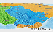 Political Shades Panoramic Map of Basilicata