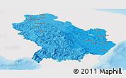 Political Shades Panoramic Map of Basilicata, single color outside