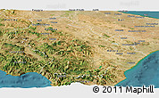 Satellite Panoramic Map of Basilicata