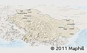 Shaded Relief Panoramic Map of Basilicata, lighten