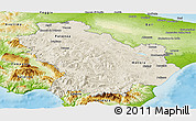 Shaded Relief Panoramic Map of Basilicata, physical outside