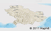 Shaded Relief Panoramic Map of Basilicata, single color outside