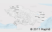 Silver Style Panoramic Map of Basilicata, single color outside