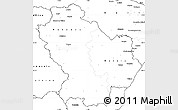 Blank Simple Map of Basilicata