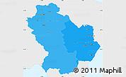 Political Shades Simple Map of Basilicata, single color outside