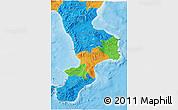 Political 3D Map of Calabria