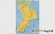 Savanna Style 3D Map of Calabria