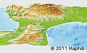 Physical Panoramic Map of Catanzaro