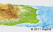 Physical Panoramic Map of Crotone