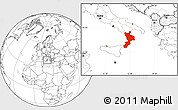 Blank Location Map of Calabria