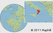 Savanna Style Location Map of Calabria