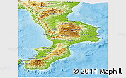 Physical Panoramic Map of Calabria