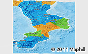 Political Panoramic Map of Calabria