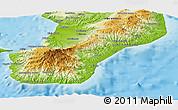 Physical Panoramic Map of Reggio di Calabria