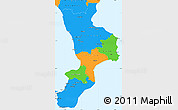 Political Simple Map of Calabria