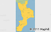 Savanna Style Simple Map of Calabria