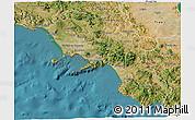 Satellite 3D Map of Campania