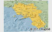Savanna Style 3D Map of Campania