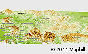 Physical Panoramic Map of Avellino