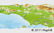 Physical Panoramic Map of Caserta