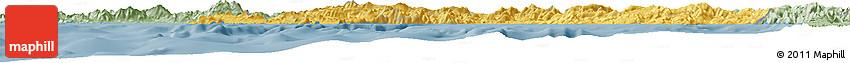 Savanna Style Horizon Map of Campania
