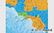 Political Map of Campania