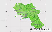 Political Shades Map of Campania, cropped outside