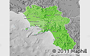 Political Shades Map of Campania, desaturated