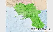 Political Shades Map of Campania, lighten