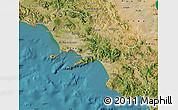 Satellite Map of Campania