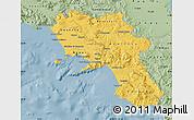 Savanna Style Map of Campania