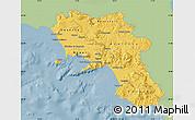 Savanna Style Map of Campania, single color outside
