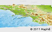 Physical Panoramic Map of Campania