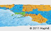 Political Panoramic Map of Campania