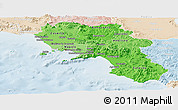 Political Shades Panoramic Map of Campania, lighten