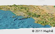 Satellite Panoramic Map of Campania