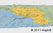 Savanna Style Panoramic Map of Campania