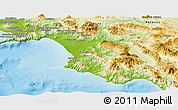 Physical Panoramic Map of Salerno