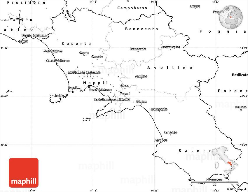 Blank Simple Map of Campania
