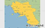 Savanna Style Simple Map of Campania