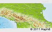 Physical 3D Map of Emilia-Romagna