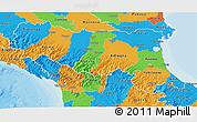 Political 3D Map of Emilia-Romagna