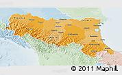 Political Shades 3D Map of Emilia-Romagna, lighten