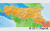 Political Shades 3D Map of Emilia-Romagna