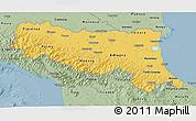 Savanna Style 3D Map of Emilia-Romagna