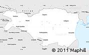 Silver Style Simple Map of Ferrara