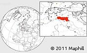 Blank Location Map of Emilia-Romagna