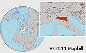 Gray Location Map of Emilia-Romagna