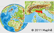 Physical Location Map of Emilia-Romagna