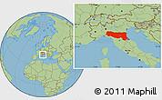 Savanna Style Location Map of Emilia-Romagna